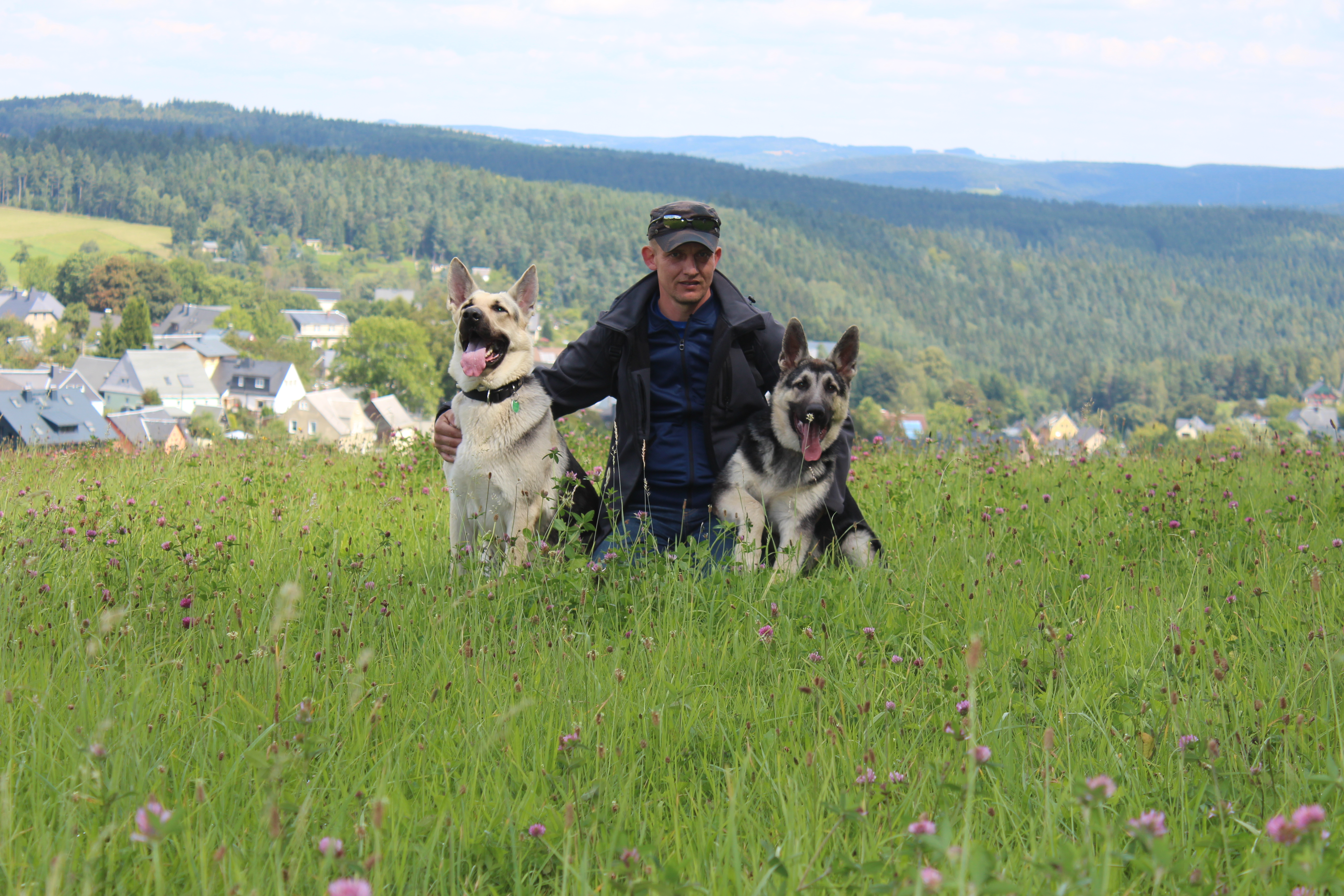 Waldemar mit seinen Hunden